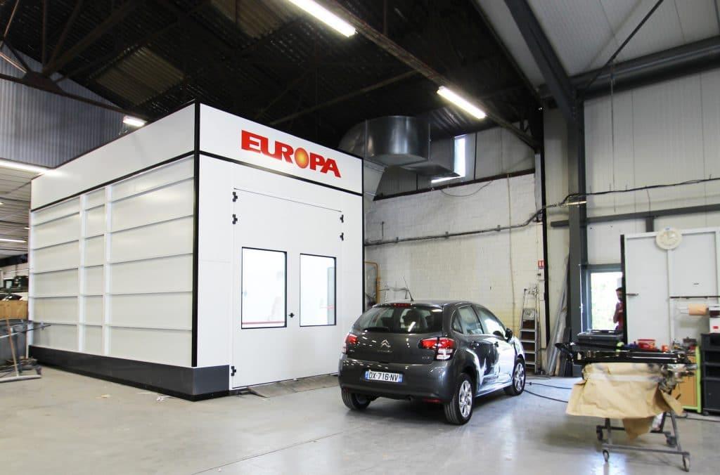 Cabine de peinture du Garage FJ Motors à Wambrechies - mécanique, vente, réparation toutes marques